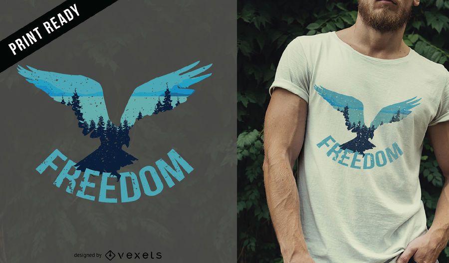 Freiheit Vogel T-Shirt Design