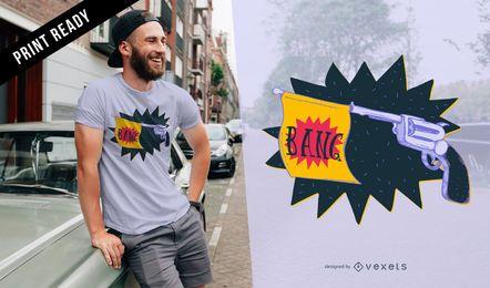 Diseño de camiseta Revolver bang