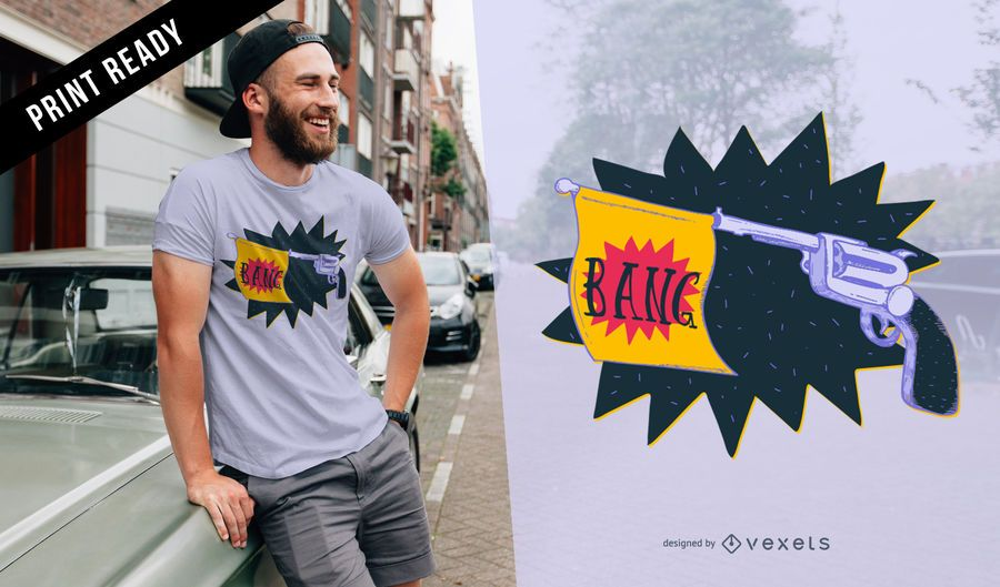 Revolver bang t-shirt design