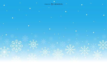 Fondo de invierno degradado de copos de nieve