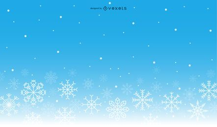 Fundo de inverno gradiente de flocos de neve