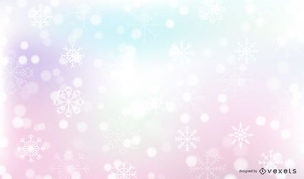 Fondo de nieve caída invierno