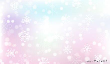 Fundo de Inverno de neve caindo