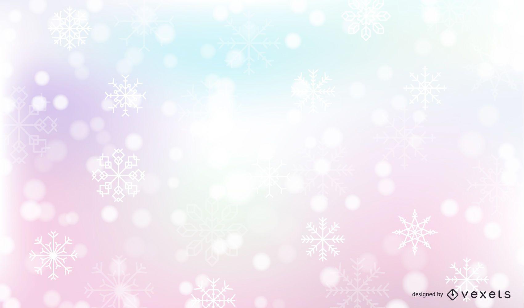 Fondo de invierno de nieve que cae
