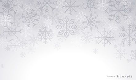 Fondo de invierno de copos de nieve artística