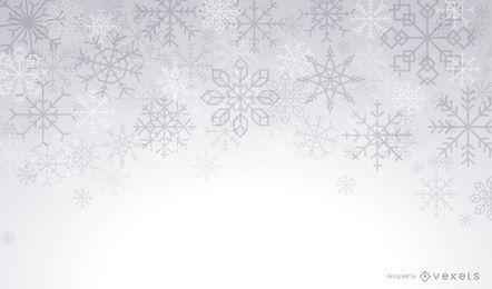 Künstlerischer Schneeflockenwinterhintergrund