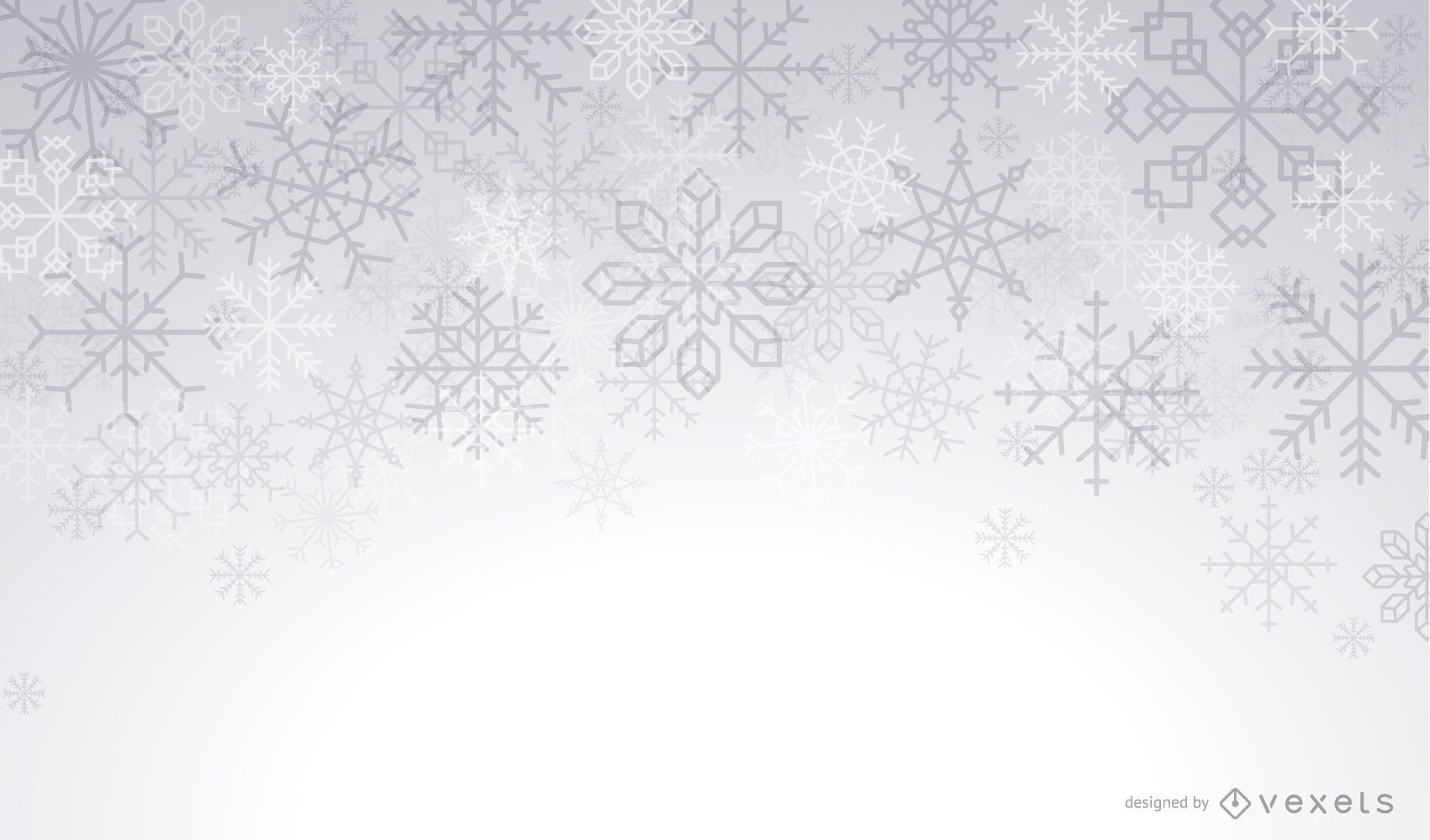 Artistic snowflakes winter background