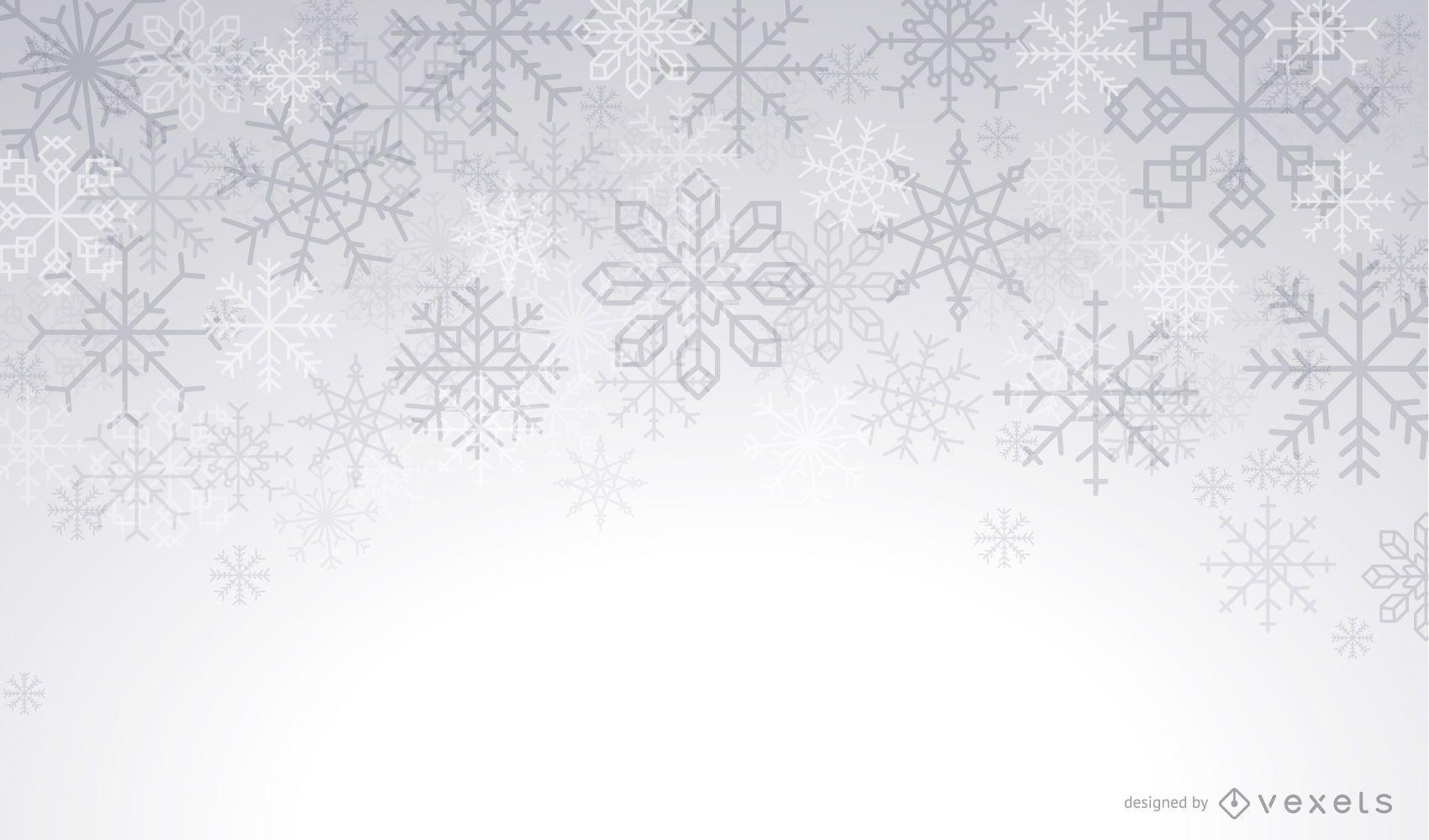 Fondo de invierno artístico copos de nieve