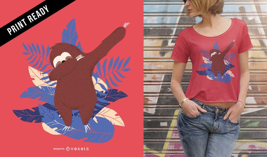 Diseño de camiseta Sloth Dab