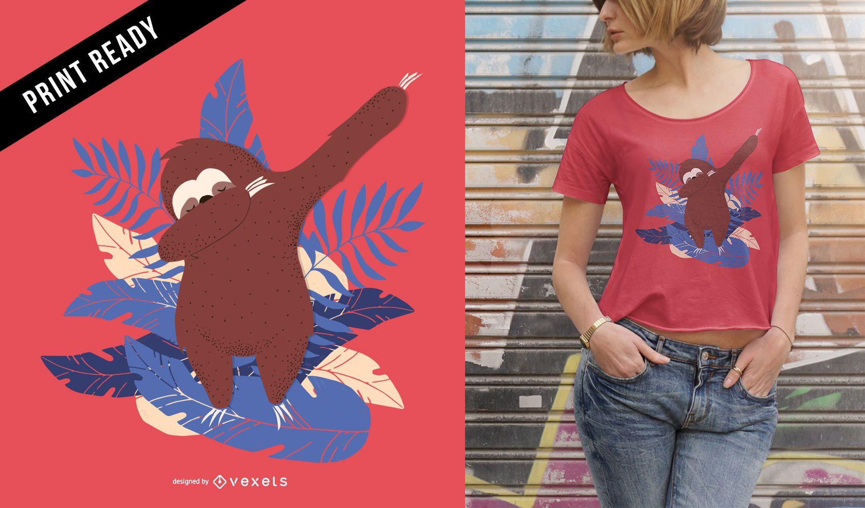 Sloth dab t-shirt design