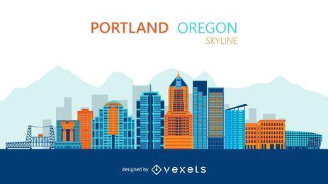 Ilustração do horizonte de Portland