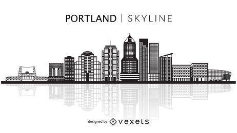 Portland skyline silhouette