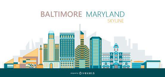 Ilustração do horizonte de Baltimore
