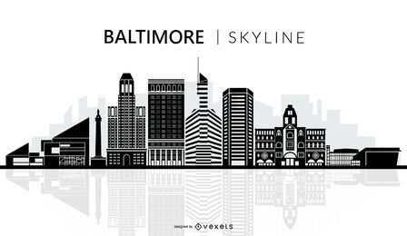 Baltimore skyline silhouette