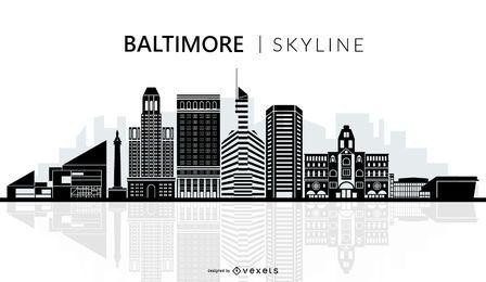 Silhueta do horizonte de Baltimore
