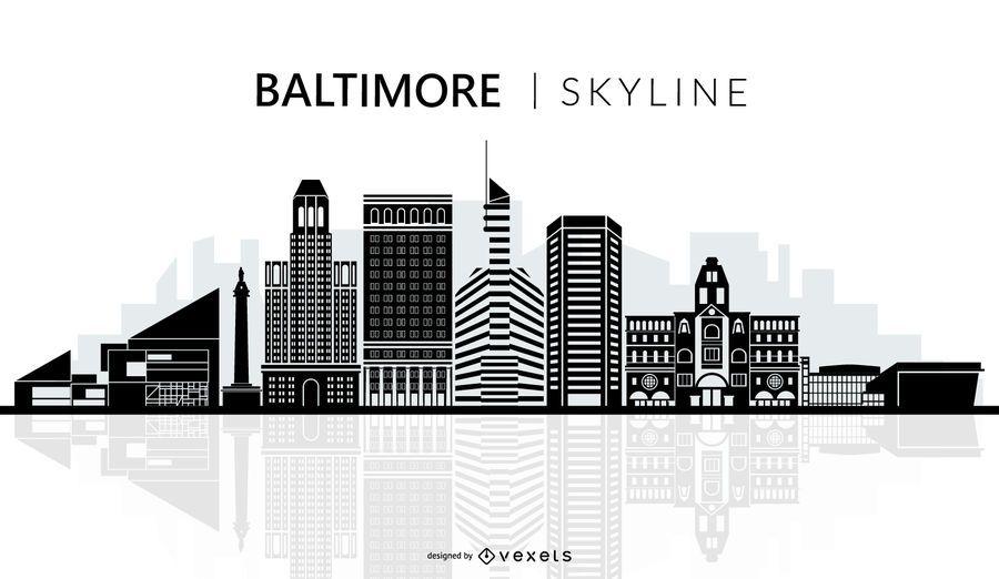 Baltimore skyline silhouette