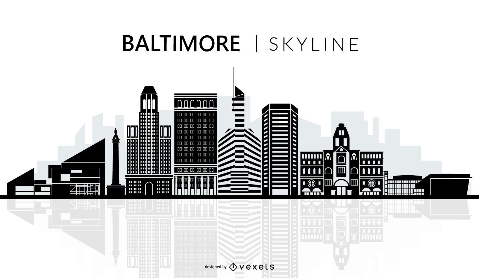 Baltimore Skyline Silhouette Ai Wiring Diagrams Circuit Bent Furby 8 The Furbinator Youtube Vector Download Rh Vexels Com City Graphics