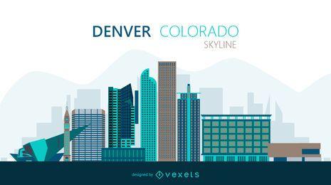 Ilustração do horizonte de Denver