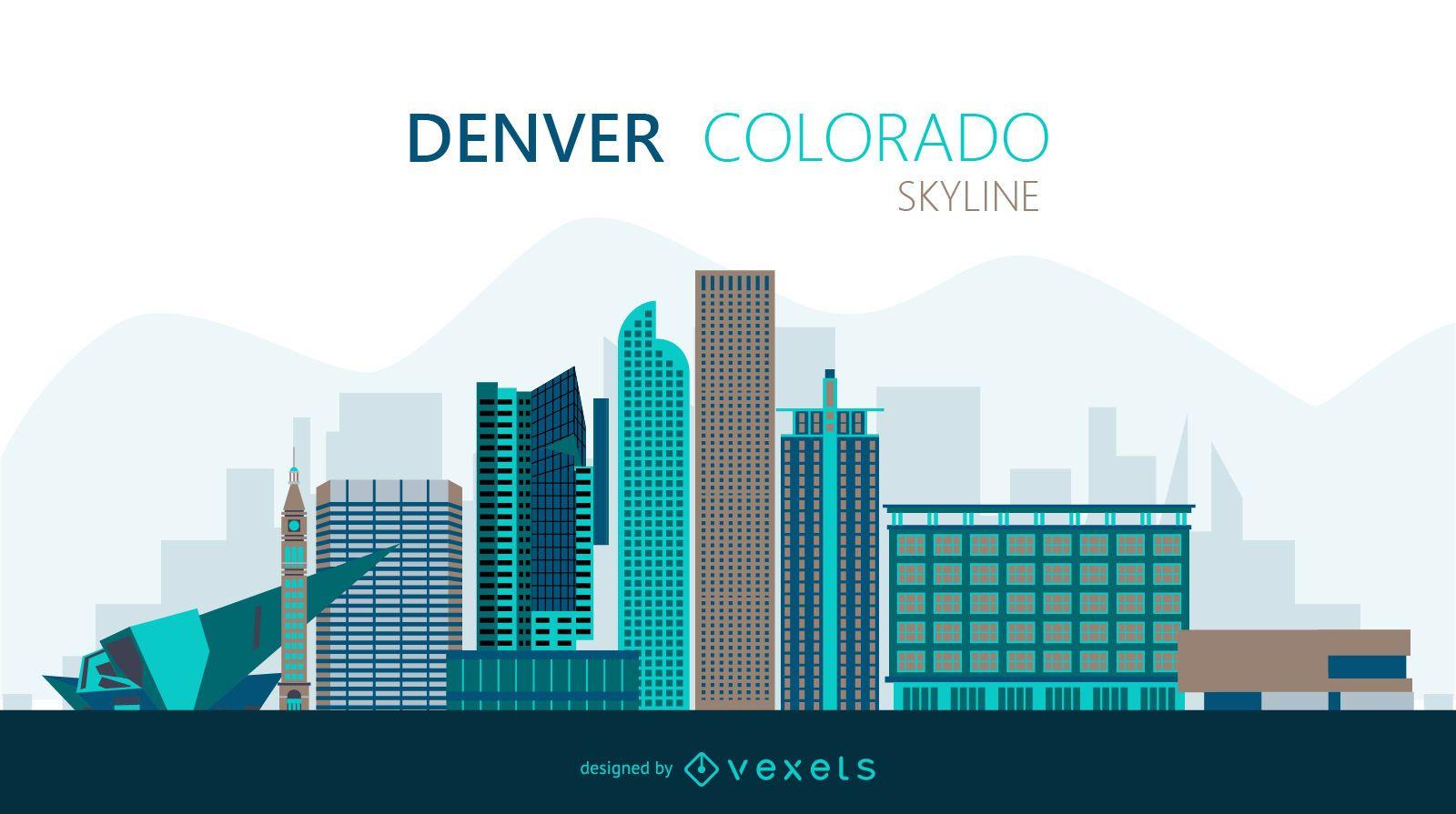 Denver skyline illustration