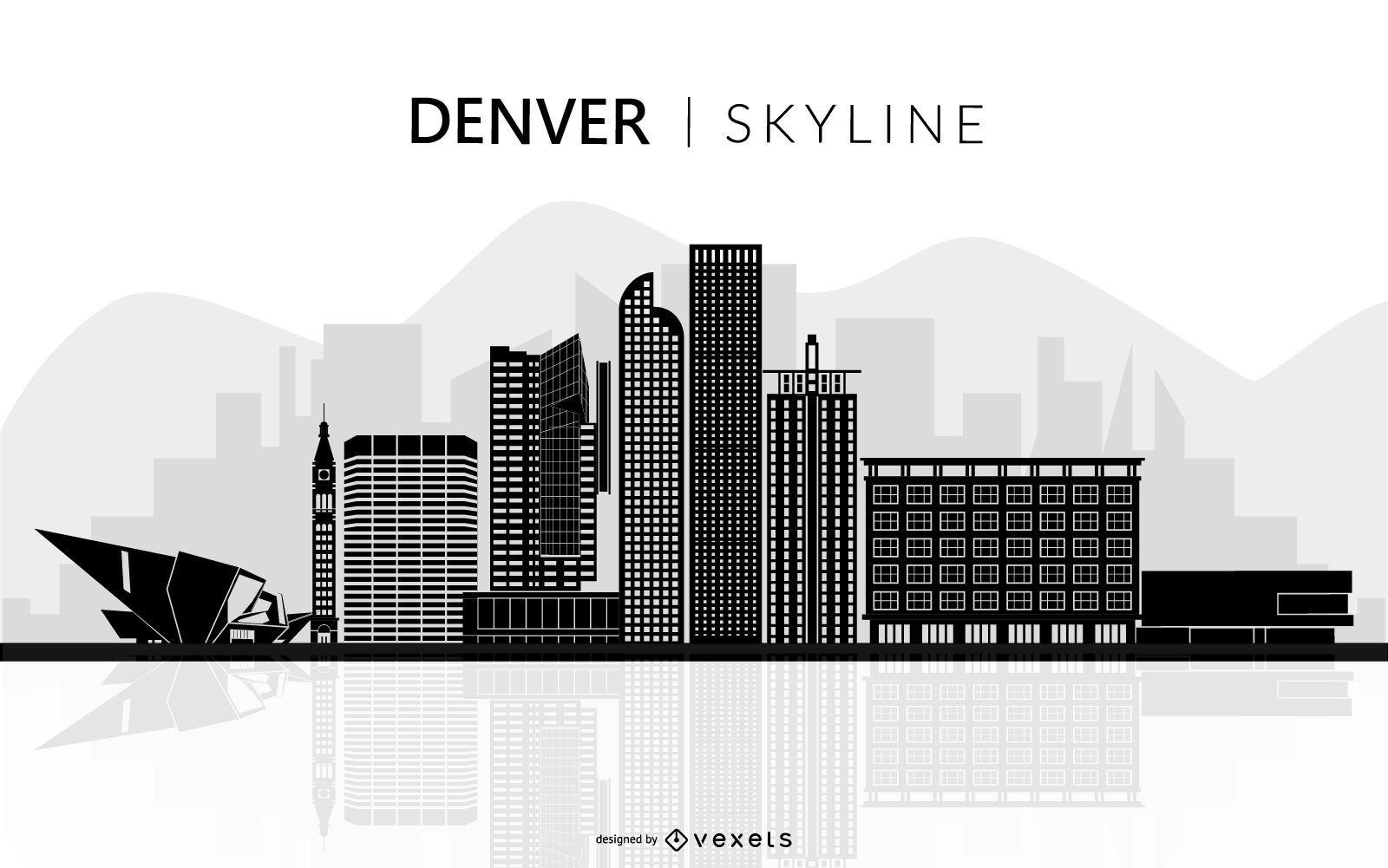 Denver skyline silhouette