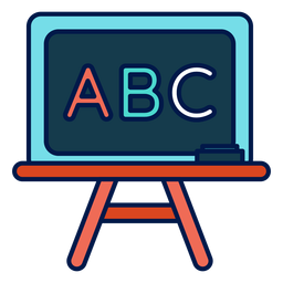 Icono de pizarra de ABC