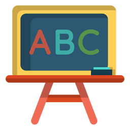 Abc chalkboard illustration