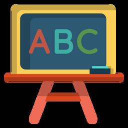 Ilustración de pizarra de ABC