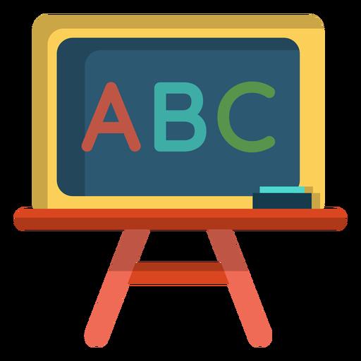 Abc chalkboard illustration