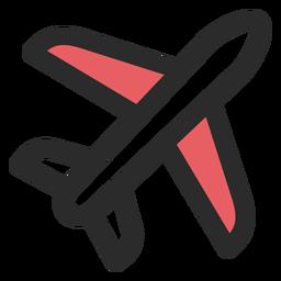 Ícone de traço colorido de avião