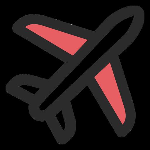 Icono de trazo de color de avión Transparent PNG
