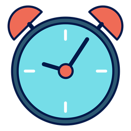 Alarm clock school icon