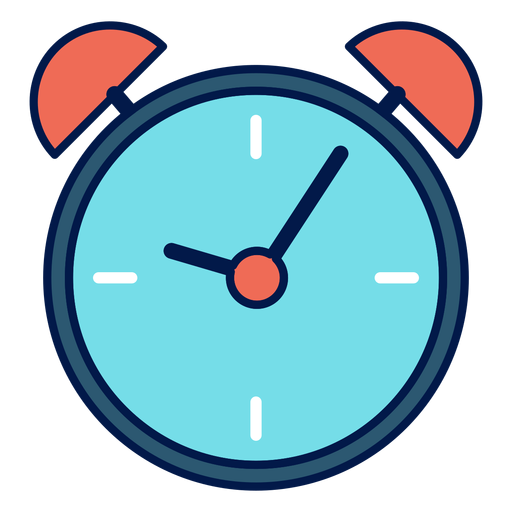 Alarm clock school icon Transparent PNG