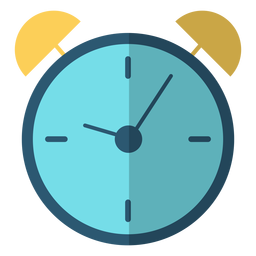 Alarm clock stroke illustration