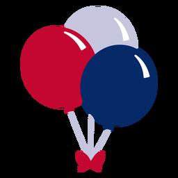 Elemento de diseño de globos americano.