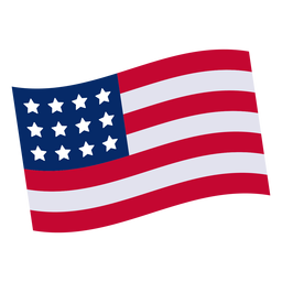 American flag design element