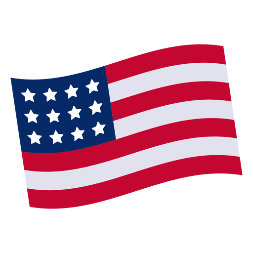 American flag design element Transparent PNG
