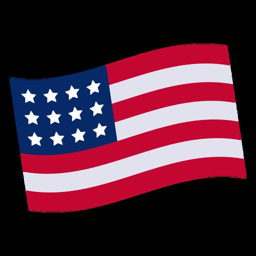 Elemento de design da bandeira americana Transparent PNG
