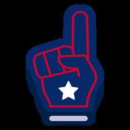 Elemento de design de dedo de espuma americana