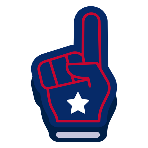 American foam finger design element