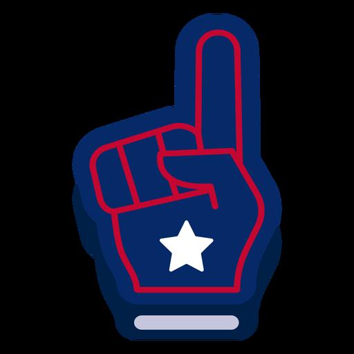 Elemento de design de dedo de espuma americana Transparent PNG