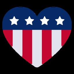 Elemento de design de coração americano