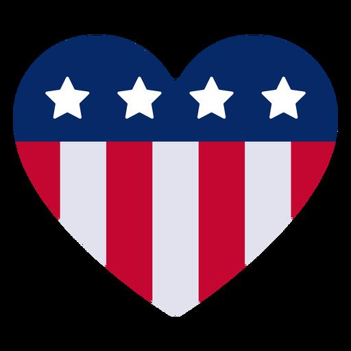 Elemento de diseño del corazón americano Transparent PNG