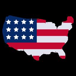 Elemento de design mapa americano