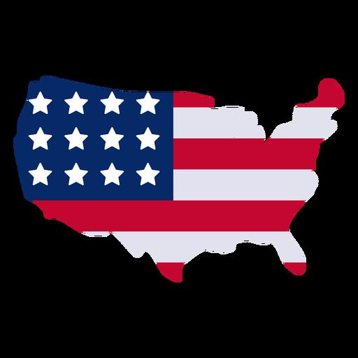 Elemento de diseño de mapa americano Transparent PNG