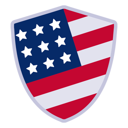 American shield badge design element