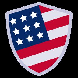 Elemento de design de distintivo de escudo americano
