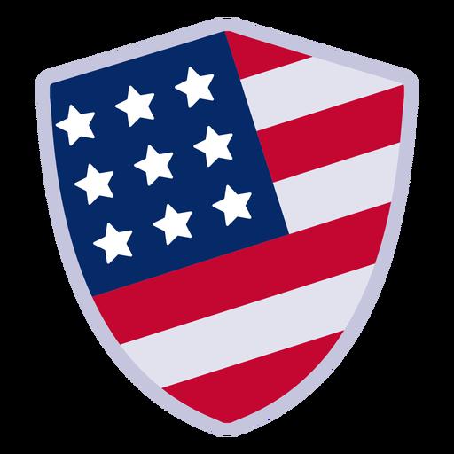 Elemento de design de distintivo de escudo americano Transparent PNG