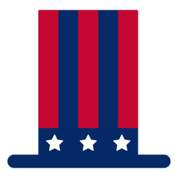 Elemento de design de cartola americana