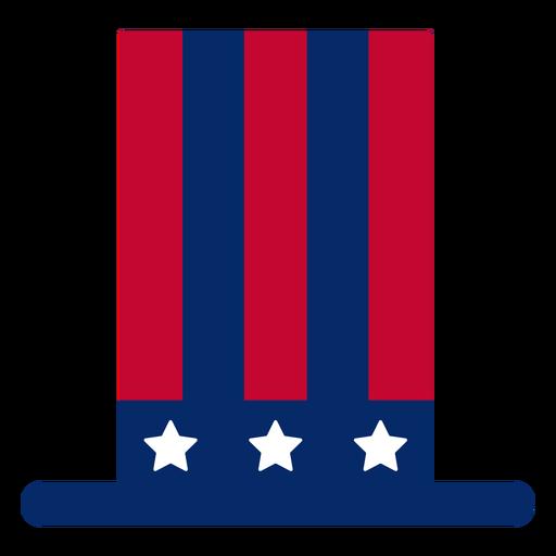 Elemento de design de cartola americana Transparent PNG