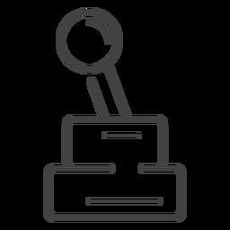 Ícone de traçado de joystick de arcada